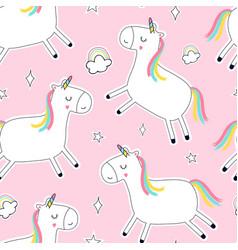 Unicorn seamless pattern print design vector