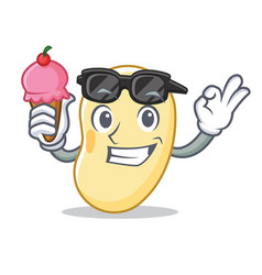 With ice cream soy bean character cartoon vector