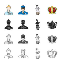 womanhistory antiquities and other web icon in vector image