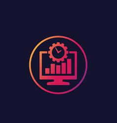Work productivity icon vector