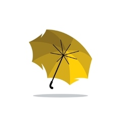 Yellow Umbrella Cartoon vector image
