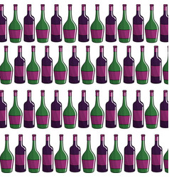 bottle of wine background icon stock vector image vector image