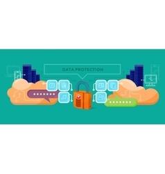 Data protection design flat concept vector