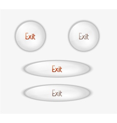 exit buttons vector image