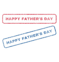 happy father s day textile stamps vector image vector image