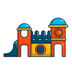 kids playing house icon cartoon style vector image