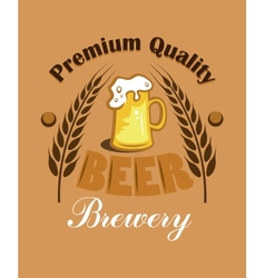 Premium Quality Beer - Brewery label vector image vector image