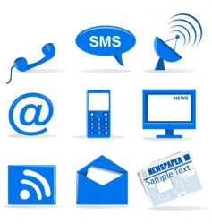 telecommunications icons vector image