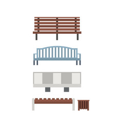 city and park benches vector image