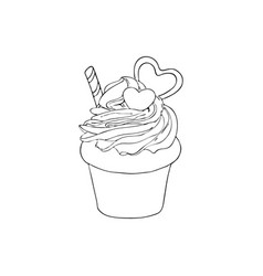 Hand drawn cake isolated design elements vector
