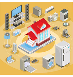 Isometric abstract smart home vector