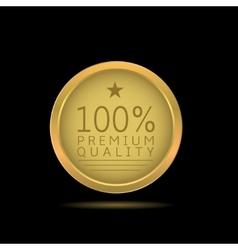 Premium quality label vector image