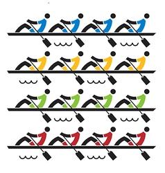 Rowing race vector image