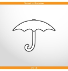 umbrella web icon vector image vector image