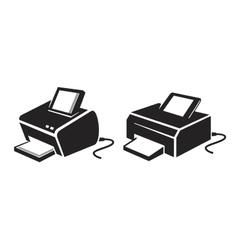 black Printer vector image vector image