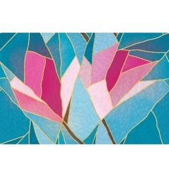 Multicolored stained glass with floral motif vector image vector image