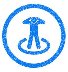 Prisoner rounded grainy icon vector
