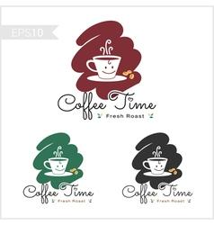 Set of retro coffee badge label logo design vector image