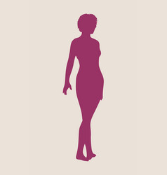 sexy women silhouette vector image