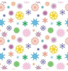 snowflakes color vector image vector image