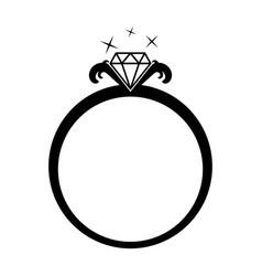 diamond jewelery ring vector image vector image