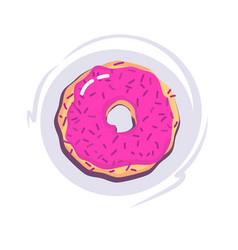 donut icon sugar donut donut vector image