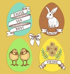 Easter edd hunt set vector image