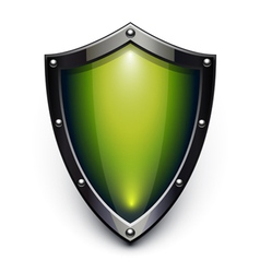 green security shield vector image vector image