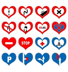 heart signs vector image