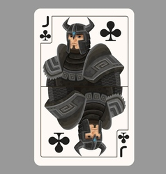 Jack of clubs playing card vector image vector image