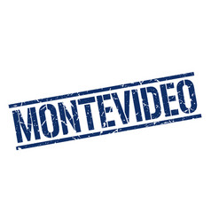 Montevideo blue square stamp vector
