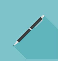 pen or pencil icon with long shadow vector image vector image
