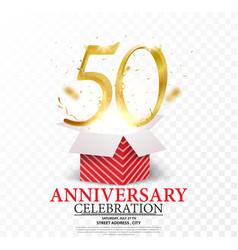 50th anniversary celebration vector