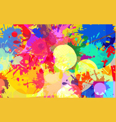 abstract background color stains paints vector image