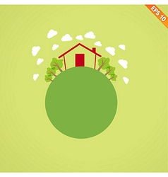 Abstract globe with environmental concept - illus vector image