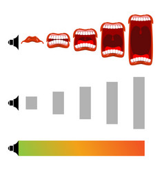 adjust volume shout level stage scream open mouth vector image