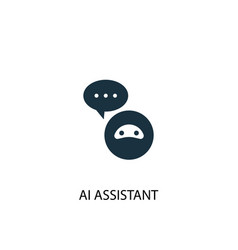 Ai assistant icon simple element ai vector