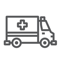 ambulance line icon emergency and hospital vector image