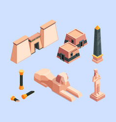 ancient egypt architectural old objects egypt vector image