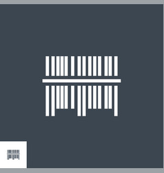 bar code related glyph icon vector image