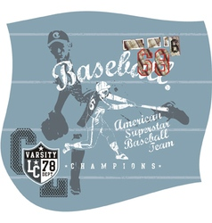Base ball aja vector