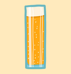 beer glass icon hand drawn style vector image