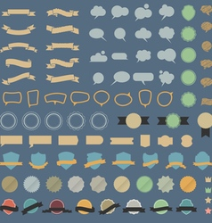 Big set of design elements and speech bubblesin vector image vector image