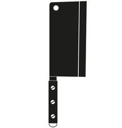 black and white bbq knife silhouette vector image