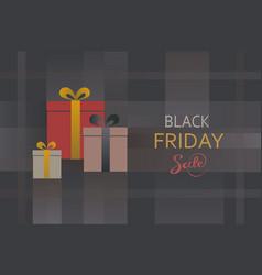 black friday sale present box background vector image