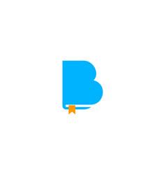 book letter b logo icon design vector image