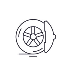 brake pads line icon concept brake pads vector image