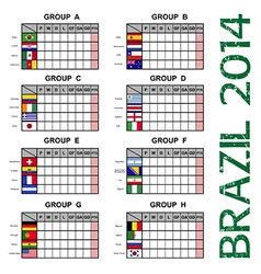 Brazil 2014 soccer football tournament vector