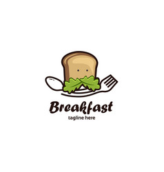 breakfast-logo-template vector image