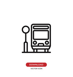 bus stop icon vector image